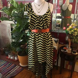 Asymmetrical High-Low Ruffle Dress